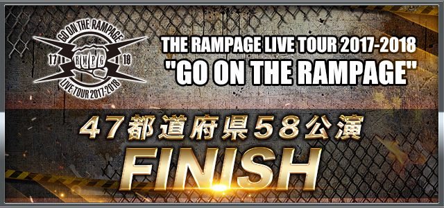 GO ON THE RAMPAGE THE finish