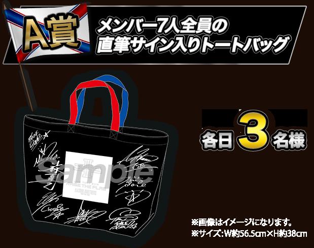 A賞 メンバー全員 直筆サイン入りトードバッグ